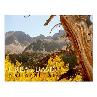 Parque nacional del gran lavabo postal