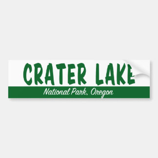 Parque nacional del lago crater pegatina de parachoque