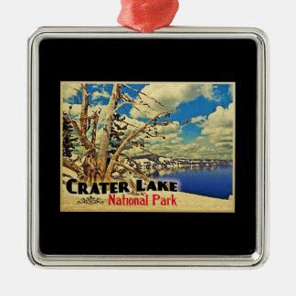 Parque nacional del lago crater ornamento de navidad