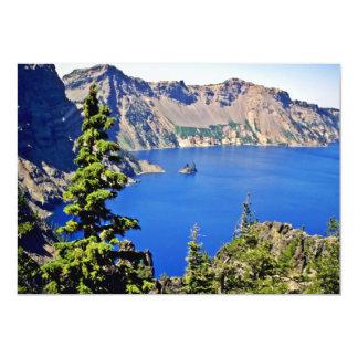 """Parque nacional del lago crater invitación 5"""" x 7"""""""