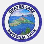 Parque nacional del lago crater pegatina redonda