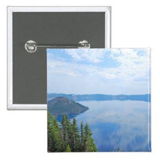 Parque nacional del lago crater pin cuadrado