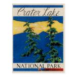 Parque nacional del lago crater postal