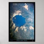 Parque nacional del lago crater, poste del satélit impresiones
