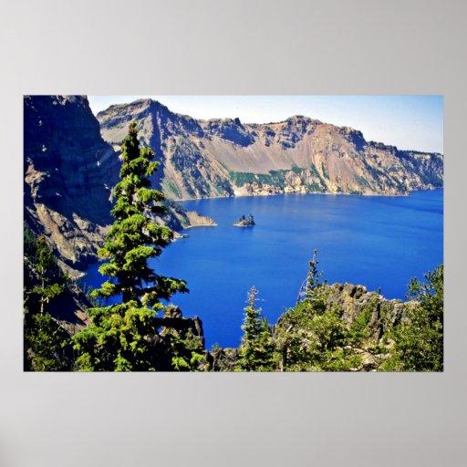 Parque nacional del lago crater poster