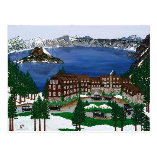 Parque nacional del lago crater tarjeta postal