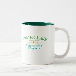 Parque nacional del lago crater tazas de café