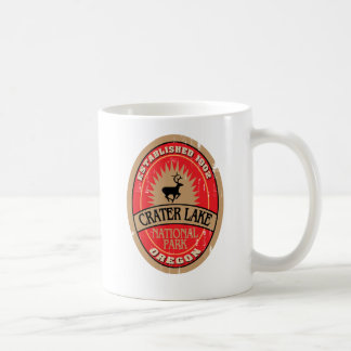 Parque nacional del lago crater taza de café
