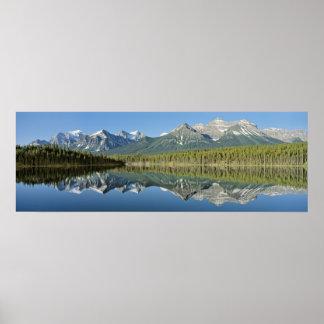 Parque nacional del lago herbert, Banff, Canadá Póster
