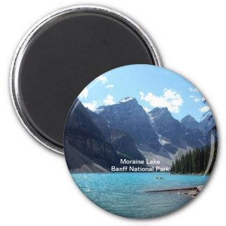 Parque nacional del lago moraine, Banff, Alberta,  Imán Redondo 5 Cm