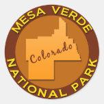 Parque nacional del Mesa Verde, Colorado Pegatina Redonda