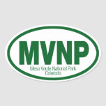 Parque nacional del Mesa Verde Pegatina Ovalada