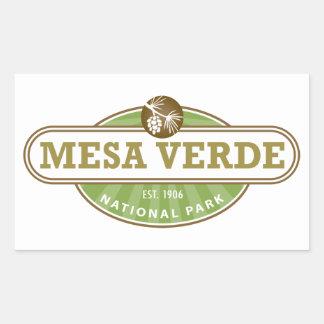 Parque nacional del Mesa Verde Pegatina Rectangular