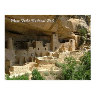 Parque nacional del Mesa Verde Tarjeta Postal