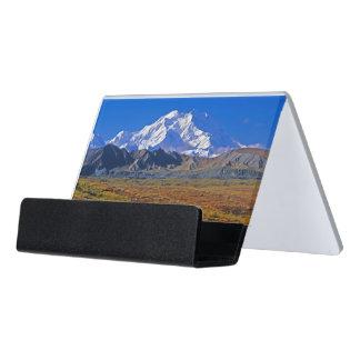 Parque nacional del monte McKinley Denali, Alaska Caja De Tarjetas De Visita Para Escritorio