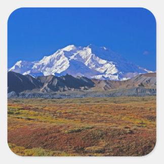 Parque nacional del monte McKinley Denali, Alaska Pegatina Cuadrada