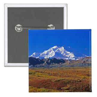 Parque nacional del monte McKinley Denali, Alaska Pin Cuadrado