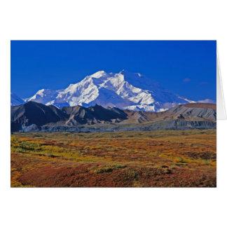Parque nacional del monte McKinley Denali, Alaska Tarjeta De Felicitación