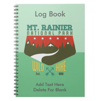 Parque nacional del Monte Rainier Libro De Apuntes Con Espiral