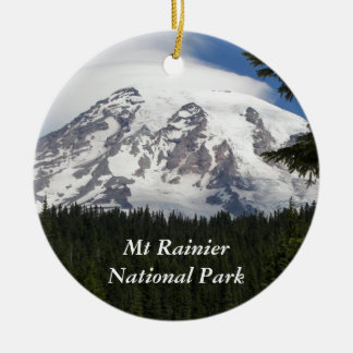 Parque nacional del Monte Rainier Adorno Redondo De Cerámica