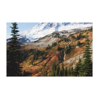 Parque nacional del Monte Rainier, otoño Impresión En Lona