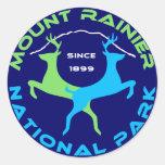 Parque nacional del Monte Rainier Pegatinas Redondas