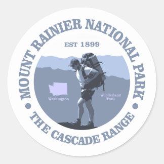 Parque nacional del Monte Rainier Pegatina Redonda