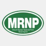 Parque nacional del Monte Rainier Pegatinas Ovales