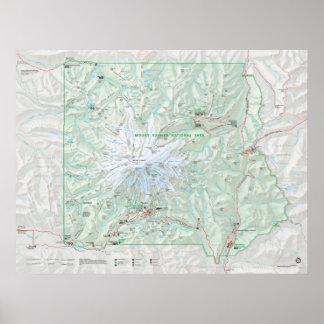 Parque nacional del Monte Rainier Póster