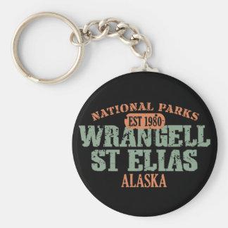 Parque nacional del St Elias de Wrangell Llavero Redondo Tipo Pin