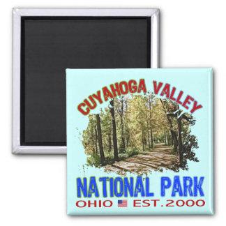 Parque nacional del valle de Cuyahoga, Ohio Imán Cuadrado