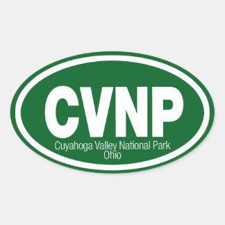 Parque nacional del valle de Cuyahoga Pegatina Ovalada
