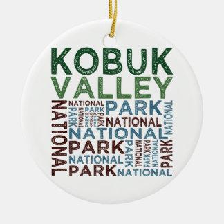 Parque nacional del valle de Kobuk Adorno Redondo De Cerámica