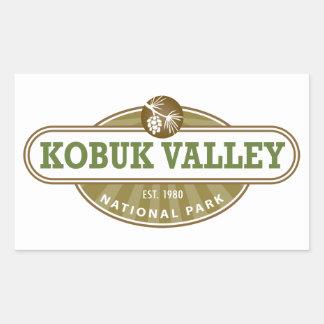 Parque nacional del valle de Kobuk Rectangular Pegatina