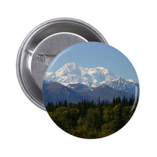 Parque nacional el monte McKinley de Alaska Denali Pin Redondo 5 Cm