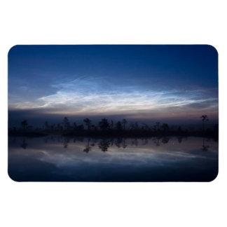 Parque nacional Estonia de Soomaa de las nubes noc Iman Flexible