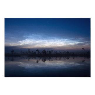 Parque nacional Estonia de Soomaa de las nubes noc Impresión Fotográfica