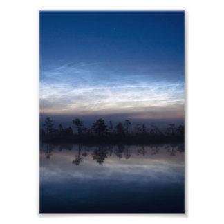 Parque nacional Estonia de Soomaa de las nubes noc Fotografía
