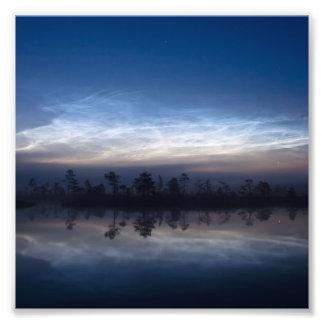 Parque nacional Estonia de Soomaa de las nubes noc Impresion Fotografica