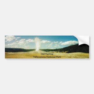 Parque nacional fiel viejo de Yellowstone Etiqueta De Parachoque