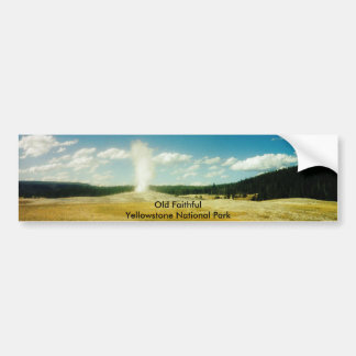 Parque nacional fiel viejo de Yellowstone Pegatina Para Auto