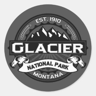 """Parque Nacional Glacier """"Ansel Adams """" Pegatina Redonda"""