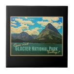 Parque Nacional Glacier Azulejo Cuadrado Pequeño