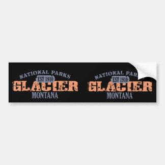 Parque Nacional Glacier Etiqueta De Parachoque