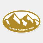 Parque Nacional Glacier Calcomanías Ovaladas