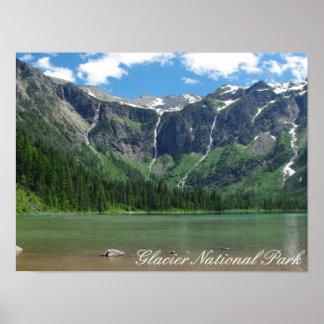 Parque Nacional Glacier del lago avalanche Póster