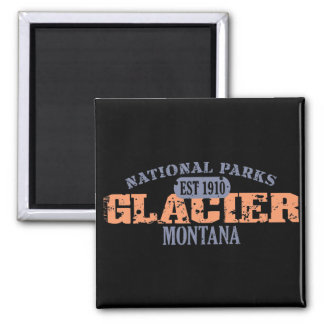 Parque Nacional Glacier Imán Cuadrado