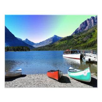Parque Nacional Glacier Montana del lago dos Fotografía