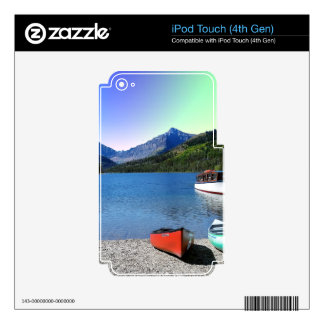 Parque Nacional Glacier Montana del lago dos iPod Touch 4G Calcomanía