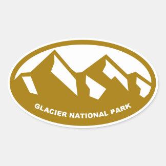 Parque Nacional Glacier Pegatina Ovalada